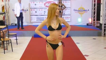 纽约世界小姐泳装秀,美女这等好身材, 过目不忘