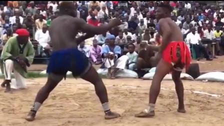 """非洲地区传统搏击比赛惊现中华武术绝技""""铁线"""
