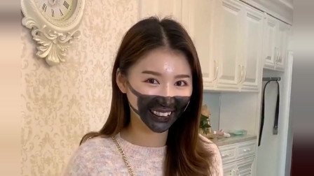 美女出门买口罩没买到,自己想到了一个好主意