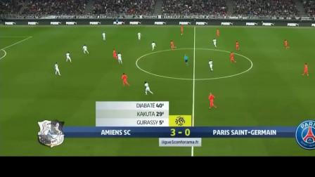 法甲25轮,亚眠4-4巴黎圣日尔曼
