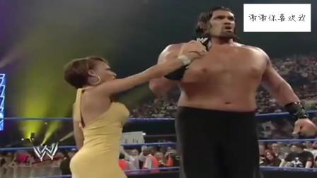 2.3米巨人出场要打十个,暴躁脾气大吼一声,女