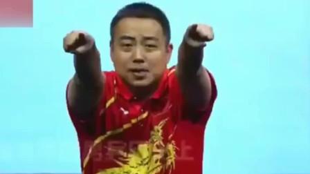 场边这个胖子一看就不会打乒乓,他干什么的?我是刘国梁!