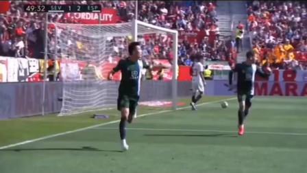 武磊连续七轮替补,本场终于首发并打进西甲生涯第一个客场进球,帮助球队反超比分