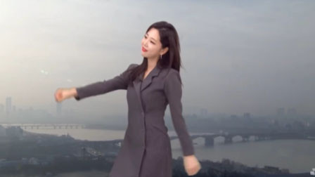 韩国天气预报突然响起音乐 女主播愣了一下开始跳舞