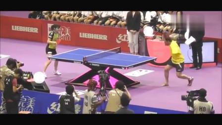 无臂老头展示乒乓球绝技, 福原爱服了, 观众看嗨