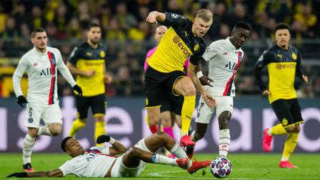 德甲小将哈兰德精彩进球,挪威天才高光时刻,联赛9球,欧冠10球莱万接班人