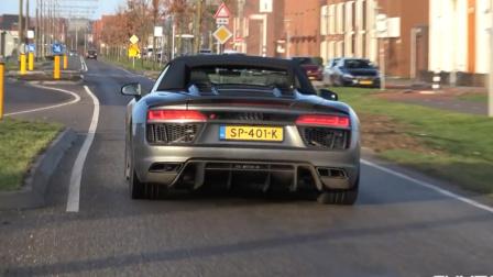 【街拍】 奥迪R8 V10 Spyder Plus与卡普里斯托运动型