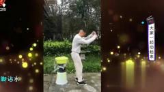 家庭幽默录像:小伙表演空中踩水,男子不服气