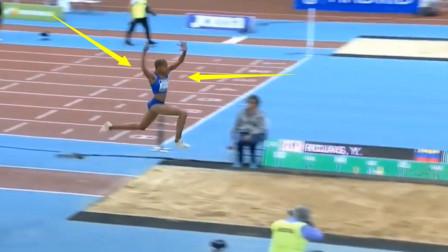 打破人类极限?比第二名多跳近一米!女飞人这一跳爆发破世界纪录
