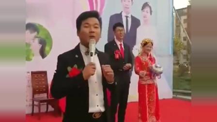 搞笑婚礼:新娘现场说英文,司仪飙方言,这是甚么神仙主持?
