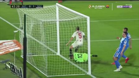 西甲:塞维利亚客场3-0赫塔菲 奥坎波斯建功