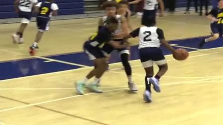 篮球:从两场比赛集锦来看,詹姆斯二儿子这远投能力很可观啊!
