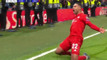 一只脚踏进八强!欧冠18决赛首回合拜仁客场3:0完胜切尔西全场集锦