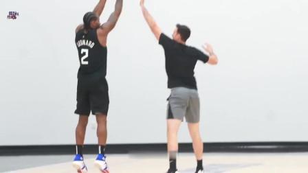快船训练集锦来了! 伦纳德非常实用的1v1篮球脚步训练