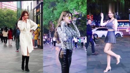 三里屯街拍:人气网红于芷晴,人美腿长身材棒