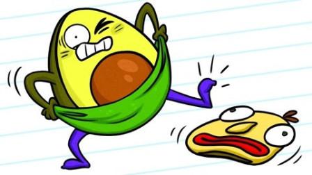 牛油果搞笑动画:黄金棍下出学霸逼到绝望的胡