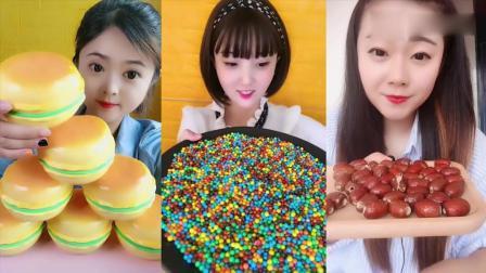 美女直播吃:自制巧克力、各种零食,小时候的