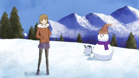 procreate绘画:这个冬天有美女和雪人相伴,你想