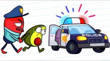 牛油果搞笑动画:牛油果夫妇越狱失败!这个监狱太高科技!