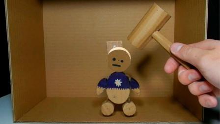 手工达人自制解压木偶人,制作材料随处都有,教你轻松解压!