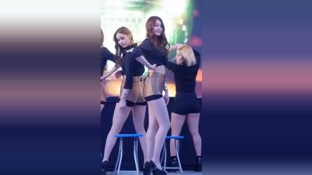 【女团SUS4】系列6,短裤美女跳凳子舞,声音也好