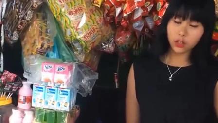 拿一块钱去逛缅甸的超市,结果美女说随便拿,