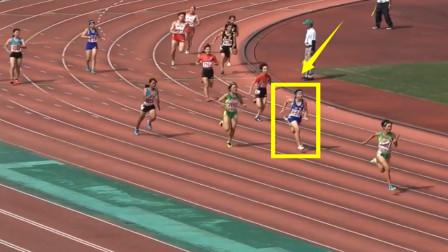 前三棒在梦游?接力落后5米远,但最后一棒女飞人奋力逆转破纪录