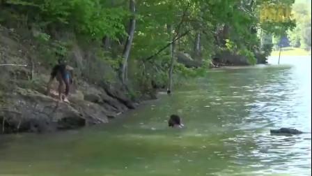 恶搞鳄鱼要吃我,我的朋友跳下水为你挡住鳄鱼,你有没有朋友为你拼过命?