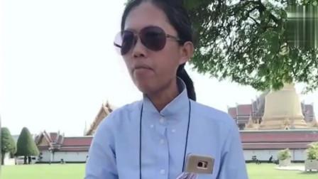 泰国网红导游,幽默风趣的带队方式,游客们宛