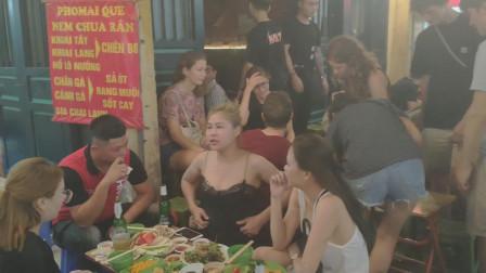 揭秘越南首都河内酒吧街夜生活,街拍各国美女,眼都看花了