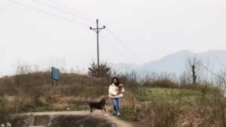 狗妈妈:盯着美女怀里的小狗,没看脚下的路,