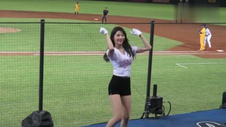 中国啦啦队美女陈怡睿赛场舞蹈.颜值身材都堪称