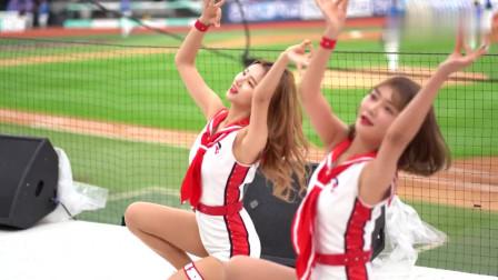 韩国啦啦队美女赛场模仿全昭弥经典舞蹈, 学生装
