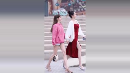 广州街拍瞬间:爱笑的女生运气都不会太差,因