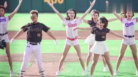 中韩啦啦队美女同场舞蹈, 朴姬兰的美貌成为全场