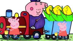 小猪佩奇猪爷爷收获了一火车的柠檬书适优阅儿童英语学习