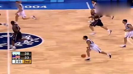 回顾:奥运会篮球半决赛,吉诺比利精彩集锦,太爽了