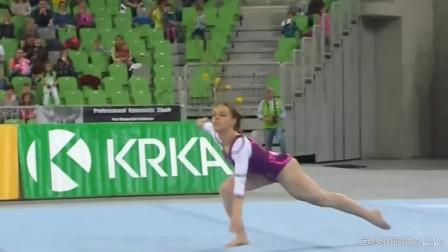 身材不一般的斯洛文尼亚体操美女特雅莎·基斯莱