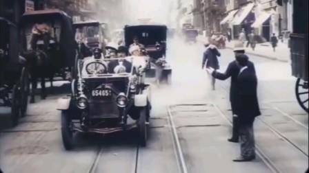 不一样的 街拍:1911美国纽约 街拍 后期修复插帧上色