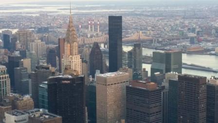 【美国纽约街拍】:美国纽约帝国大厦86楼,全纽