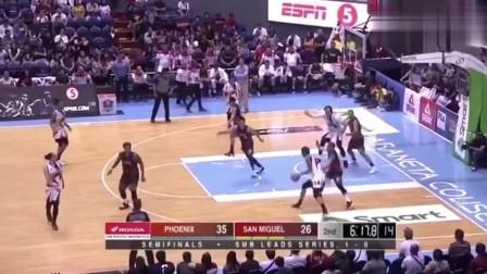 菲律宾篮球比赛打架集锦,冲突火爆!