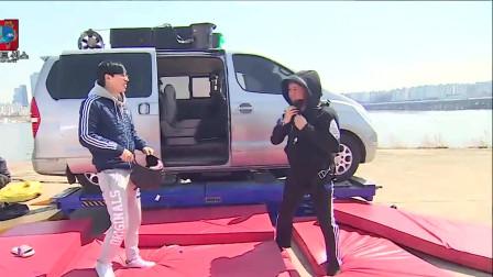 无限挑战:郑俊河被节目组恶搞,吓得虚脱在地