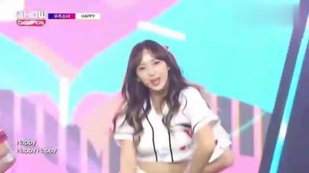 韩国女团:程潇百褶裙在台上表演,美女萌萌的