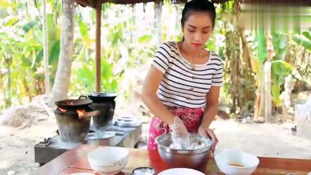 农村美女教你将普通红薯制作成美味好吃的红薯
