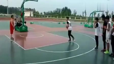 篮球校队选拔,看着这些过人技术,能进国家队吗?