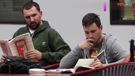 解压恶搞整蛊:图书馆里大声的手机铃声恶作剧