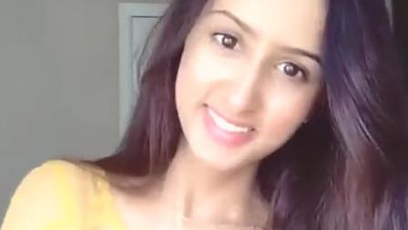 印度美女,牙齿真白,笑起来太好看了吧!