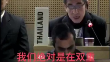 国际会议中泰国代表幽默讽刺国际社会对中国多重多重标准,印度代表表示:我其实不想笑得~~