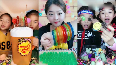 美女直播吃:啤酒糖葫芦、创意糖,你们吃过吗