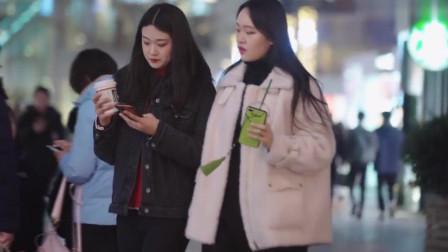 北京街拍,身材好颜值高的女孩,让人一眼就记